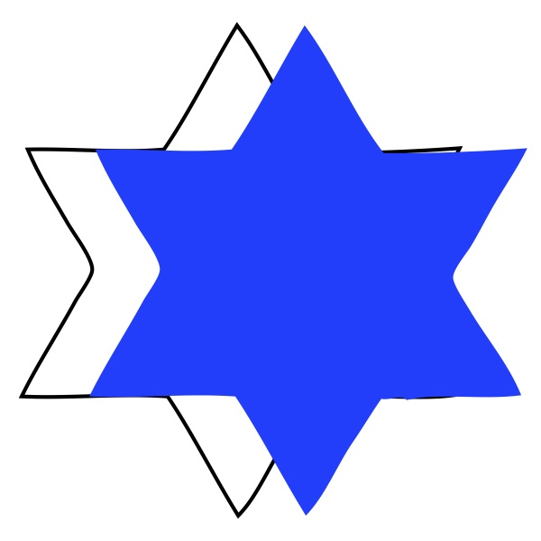 Star of David 6 Point Star Blue Medium 40 Shapes