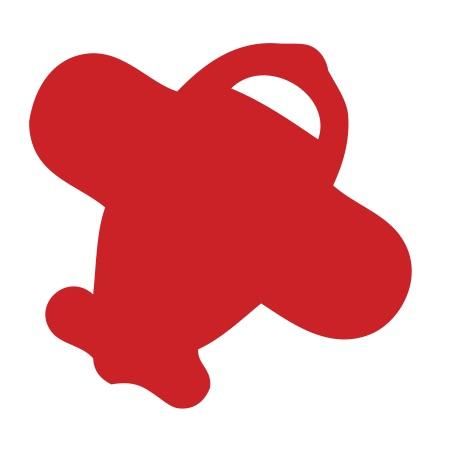 Airplane Red Medium 40 Shapes
