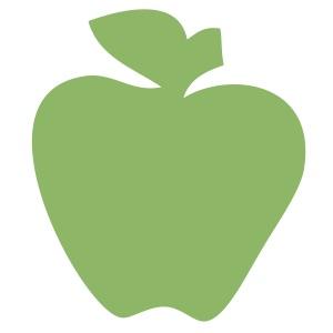 Apple Light Green Medium 40 Shapes