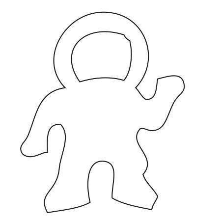 Astronaut White Large 40 Shapes