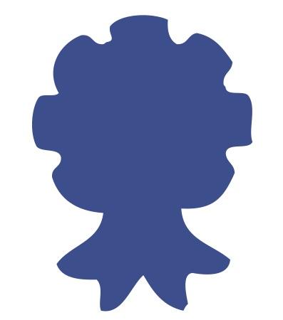 Award Ribbon Blue Medium 40 Shapes