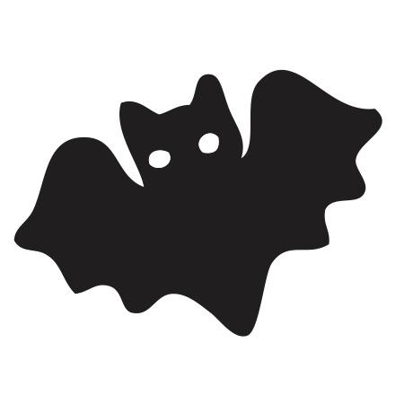 Bat Black Medium 40 Shapes