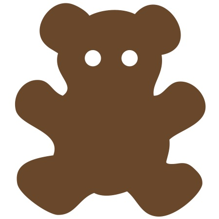 Bear Brown Small 40 Shapes