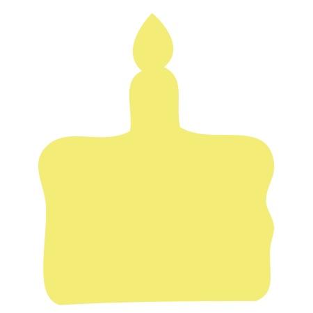 Birthday Cake Yellow Medium 40 Shapes