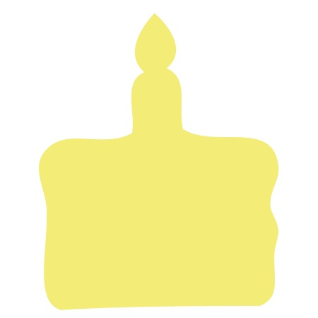 Birthday Cake Yellow Large 40 Shapes