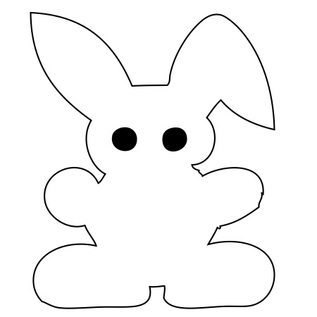 Bunny White Large 40 Shapes