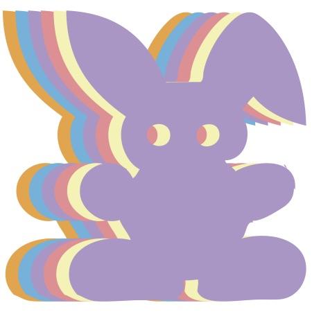 Bunny Neon Small 40 Shapes