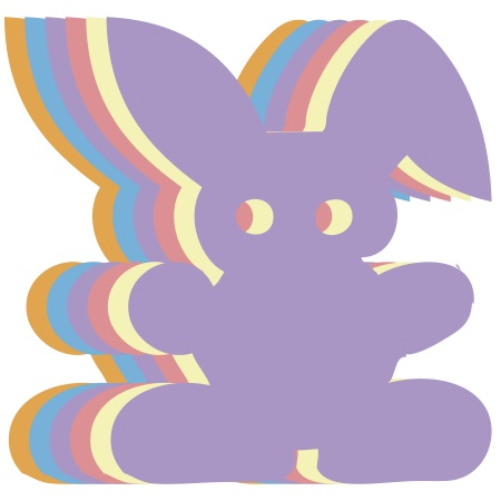 Bunny Assorted Colored Medium 40 Shapes