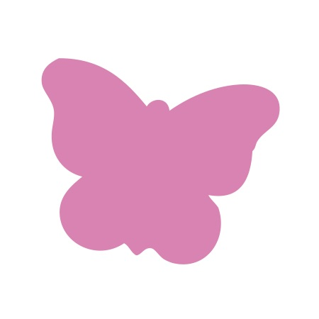 Butterfly Pink Medium 40 shapes