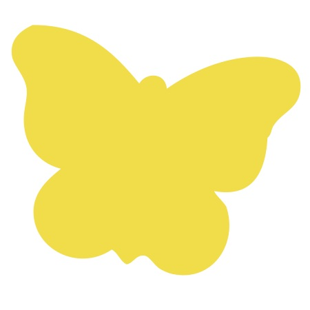 Butterfly Yellow Large 40 Shapes