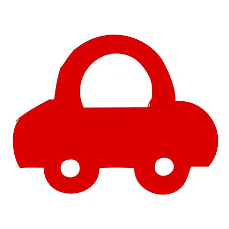 Car Red Medium 40 Shapes