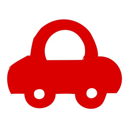 Car Red Large 40 Shapes