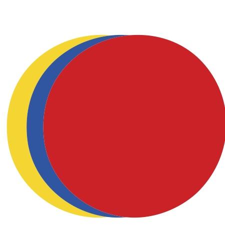 Circle Assorted Colors Medium 40 Shapes