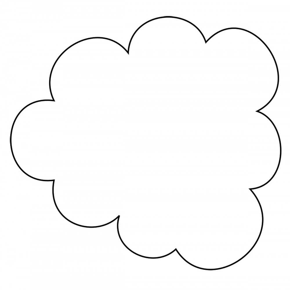 Cloud White Medium 40 Shapes