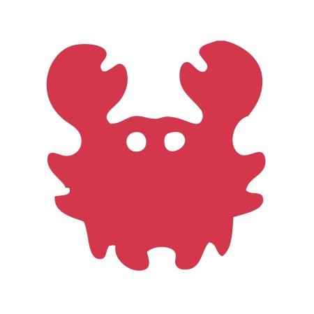 Crab Red Medium 40 Shapes