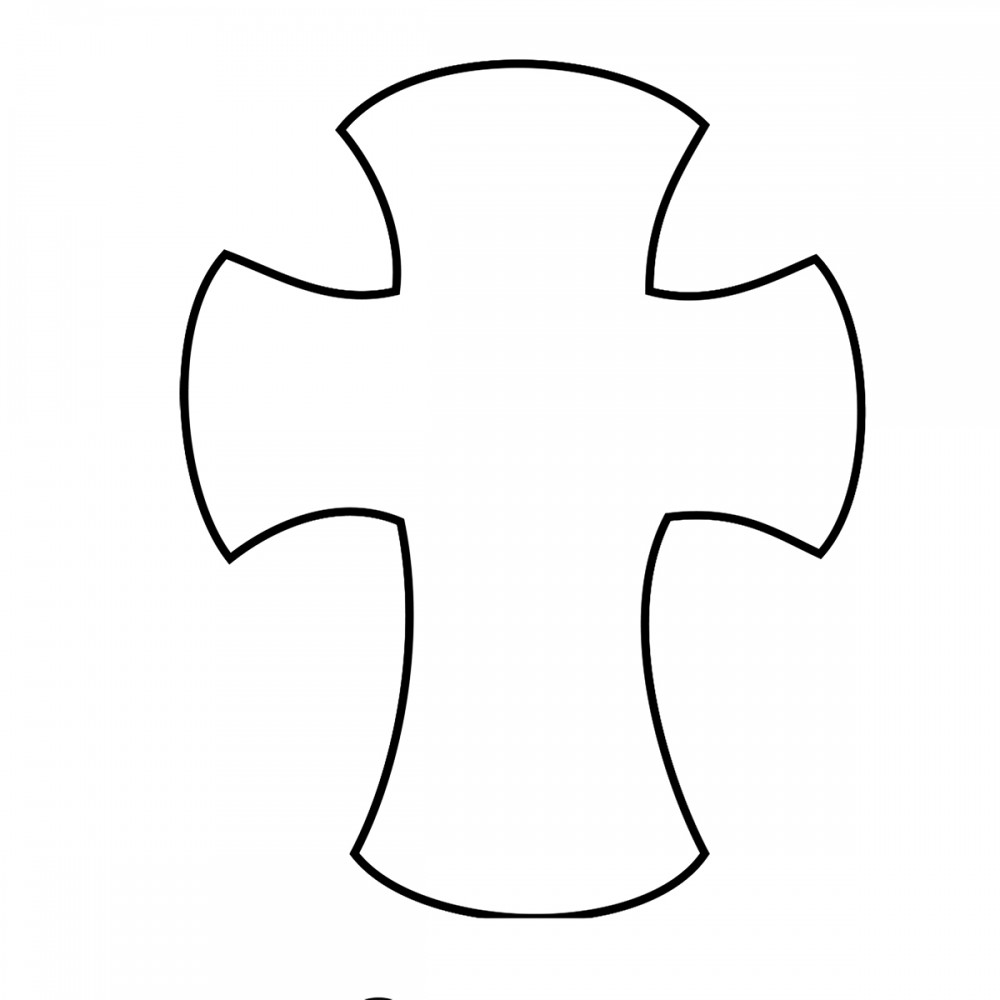 Cross Curved White Medium 40 Shapes