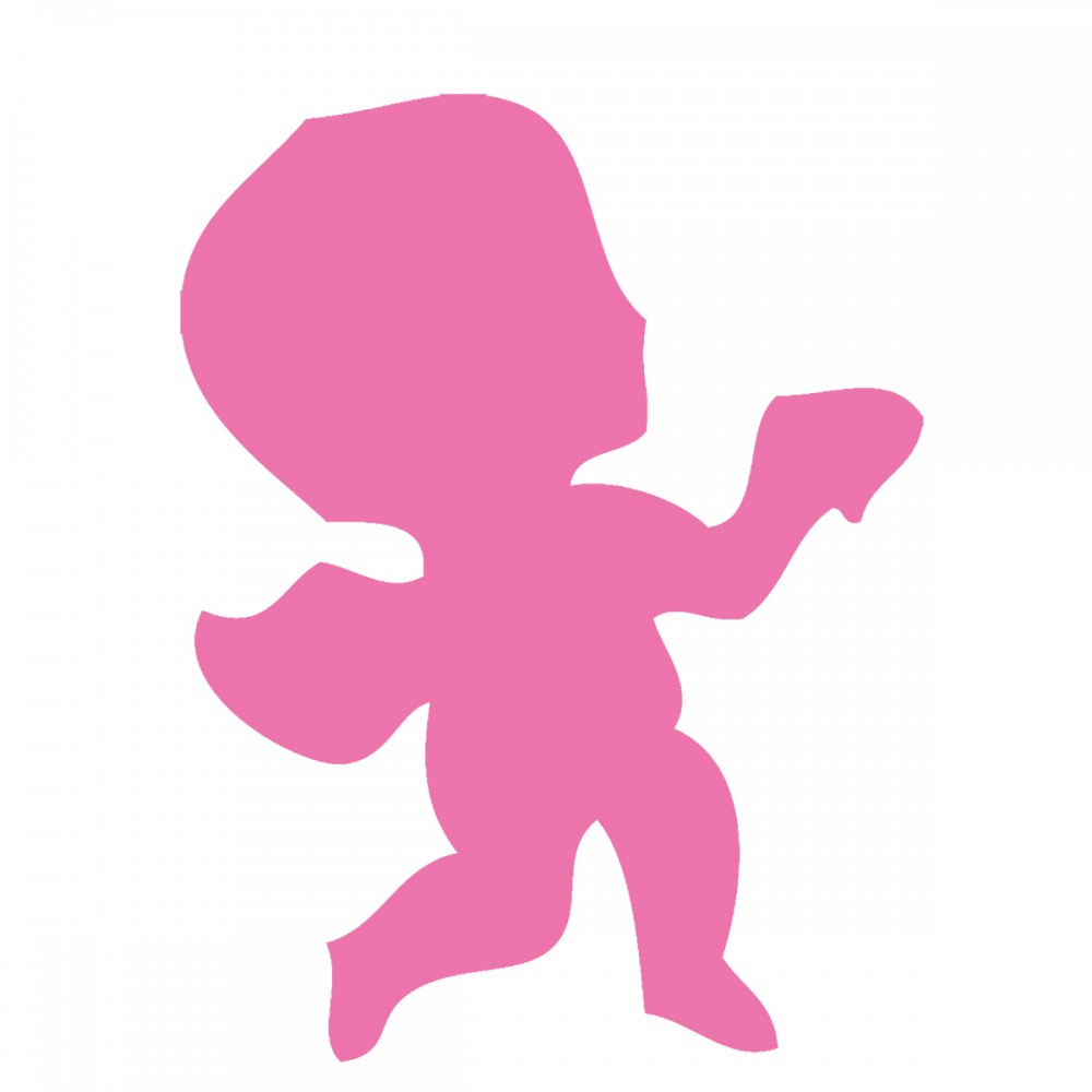 Cupid Pink Large 40 Shapes