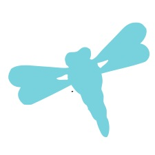 Dragonfly Blue Small 40 Shapes