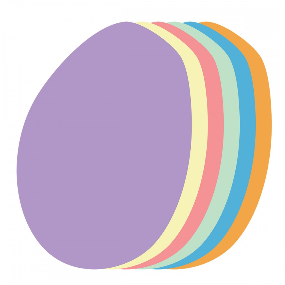 Egg Assorted Colors Medium 40 Shapes
