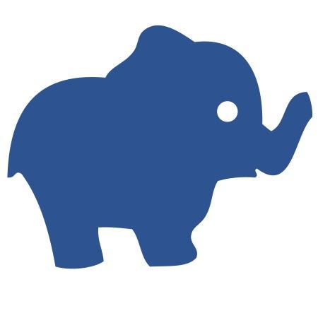Elephant Blue Medium 40 Shapes
