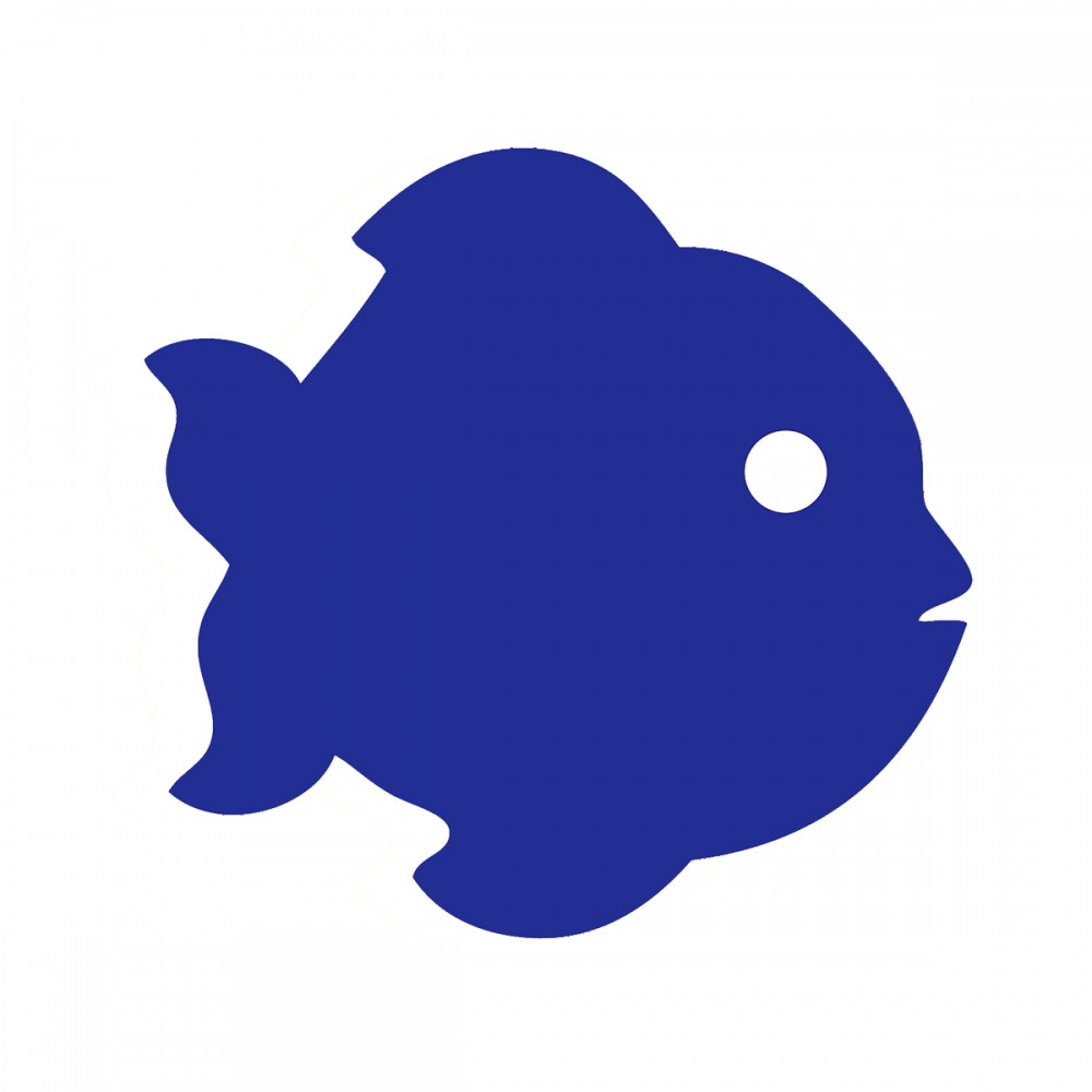 Fish Blue Medium 40 Shapes