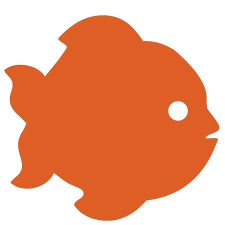 Fish Orange Small 40 Shapes