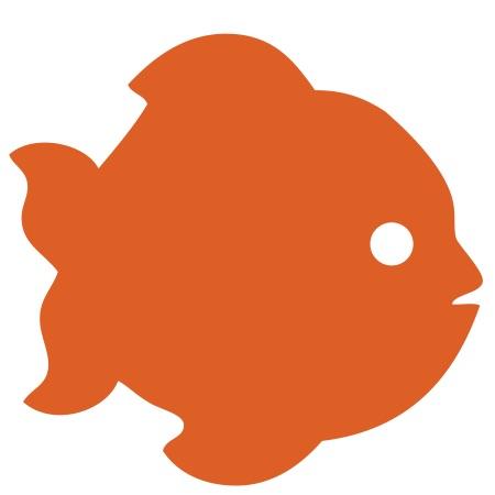Fish Orange Small 40 Shapes