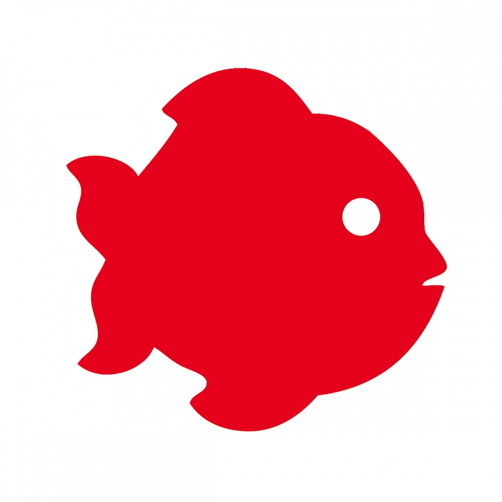 Fish Red Medium 40 Shapes