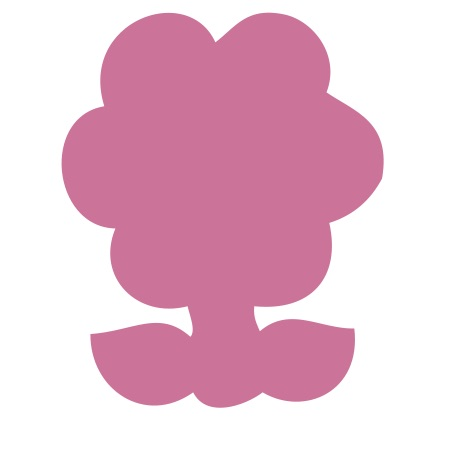 Pink Flower Small 40 Shapes
