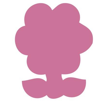 Flower Pink Medium 40 Shapes