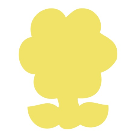 Flower Yellow Medium 40 Shapes