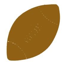Football Brown Medium 40 Shapes
