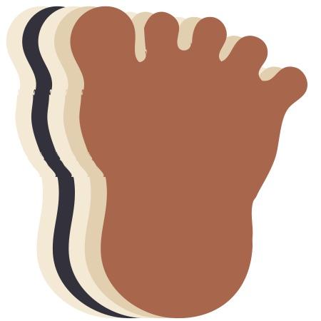 Footprint Assorted Colors Medium 40 Shapes