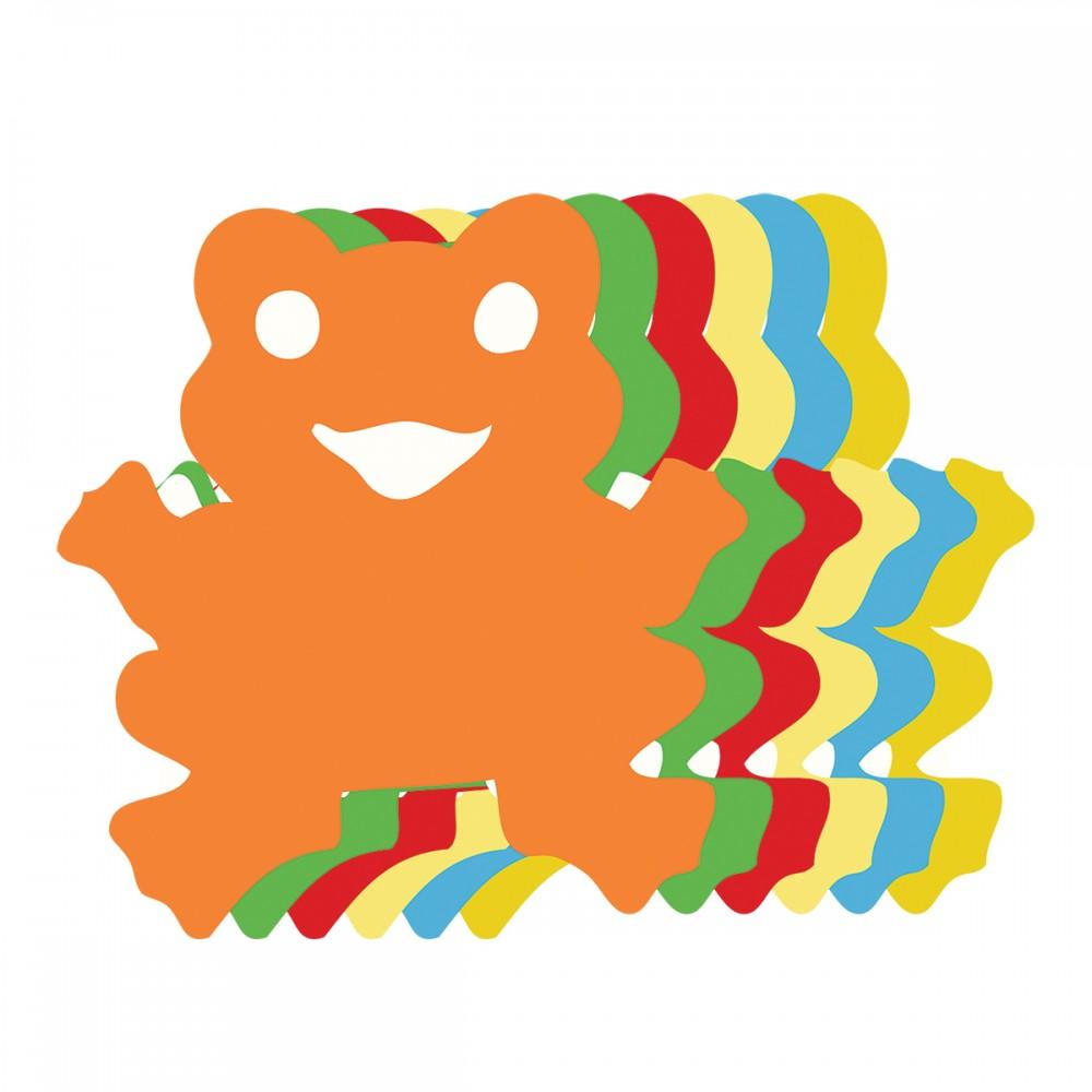 Frog Assorted Colors Medium 40 Shapes