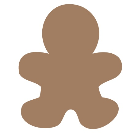 Gingerbread Man Brown Medium 40 Shapes