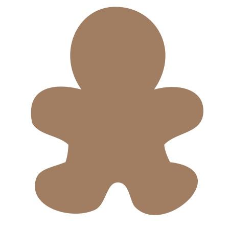 Gingerbread Man Brown Medium 40 Shapes