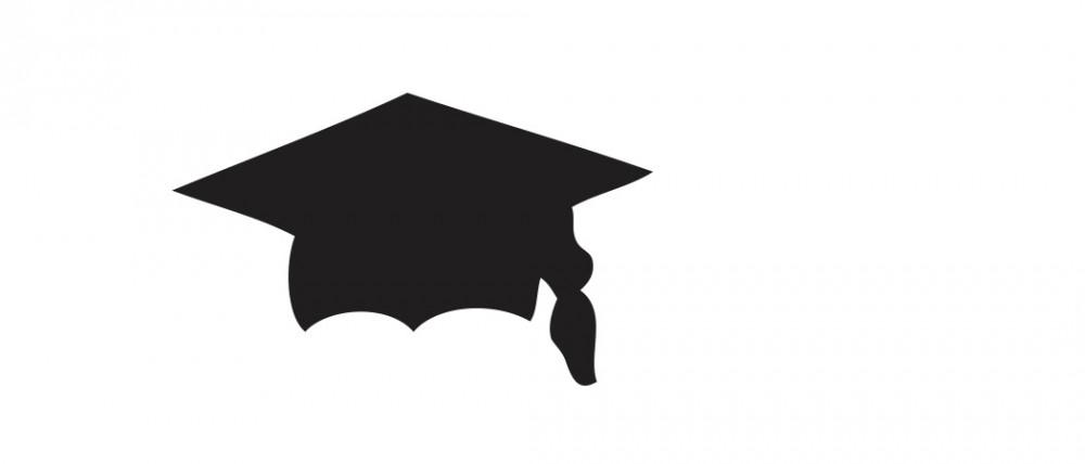 Graduation Cap Black Medium 40 Shapes