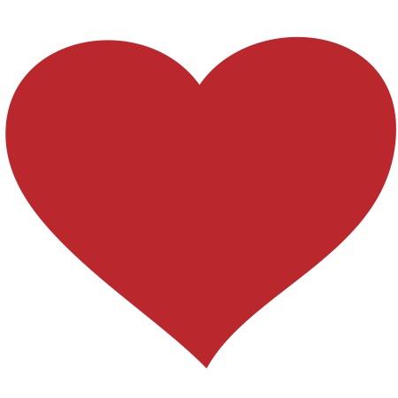 Heart Red Medium 40 Shapes