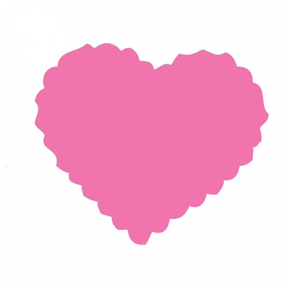 Scalloped Heart Pink Medium 40 Shapes
