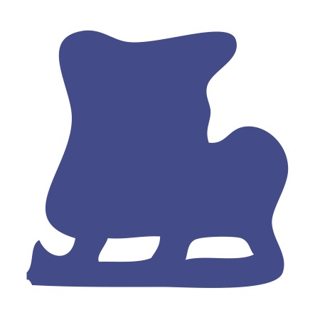 Blue Ice Skate Small 40 Shapes