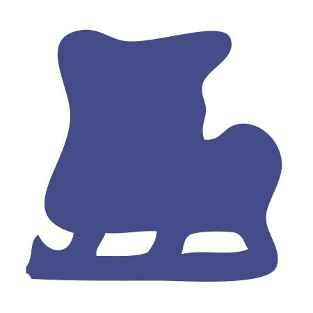 Iceskates Blue Medium 40 Shapes