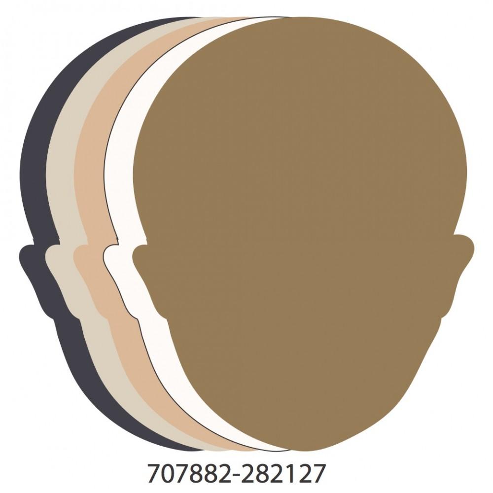 Face Assorted Colors Medium 40 Shapes
