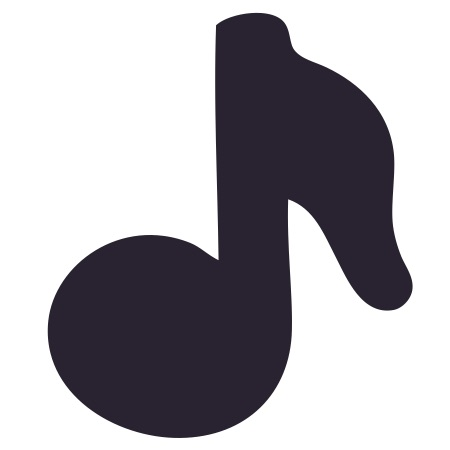 Music Note Black Small 40 Shapes