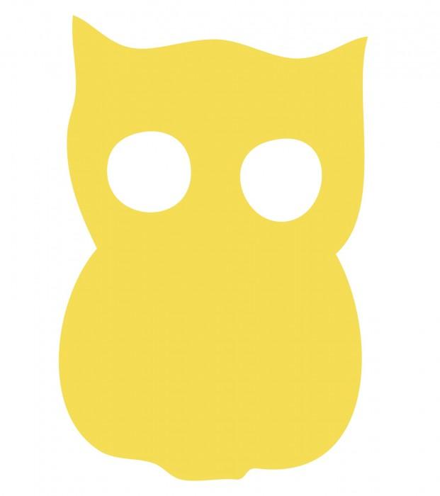 Owl Yellow Medium 40 Shapes