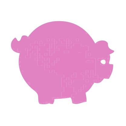 Pig Pink Medium 40 Shapes