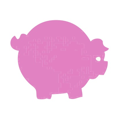 Pink Pig Small 40 Shapes