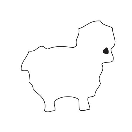 Sheep White Medium 40 Shapes