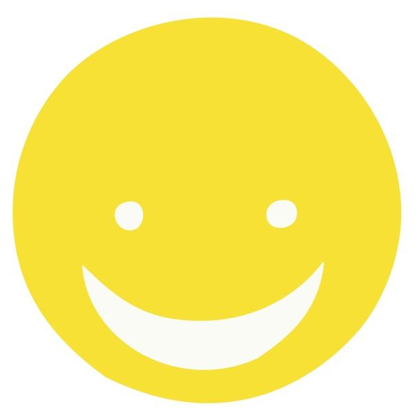 Smiley Face Yellow Medium 40 Shapes