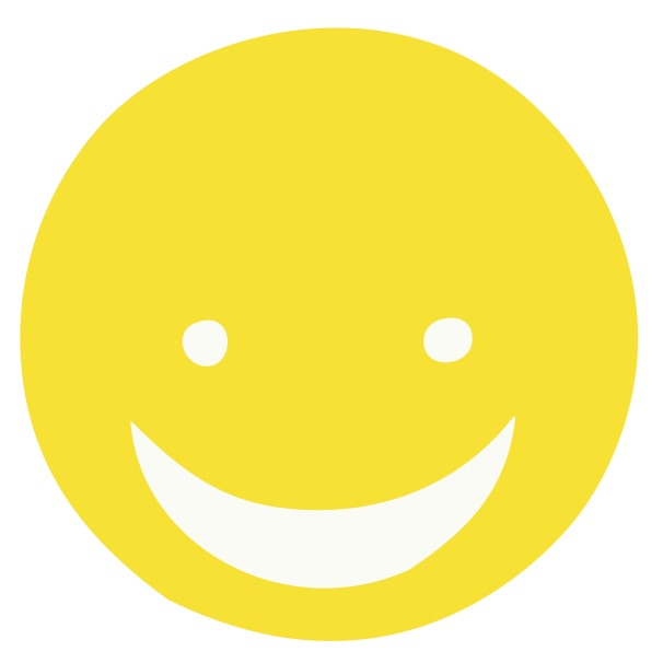 Smiley Face Yellow Medium 40 Shapes