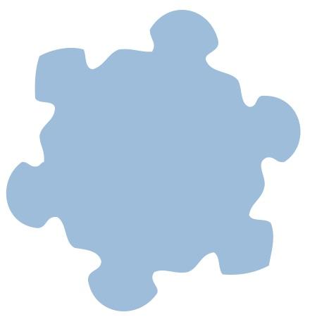 Blue Snowflake Small 40 Shapes